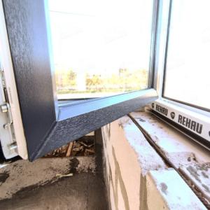 Ламинированное окно серое